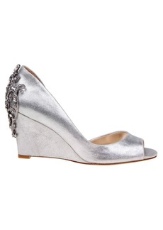 Badgley Mischka Meagan II Metallic Wedge Pumps