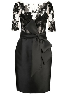 Badgley Mischka panelled fitted dress