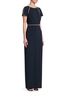 Pearl Short Sleeve Gown