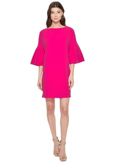 Badgley Mischka Pebble Crepe Bell Sleeve Day to Evening Dress
