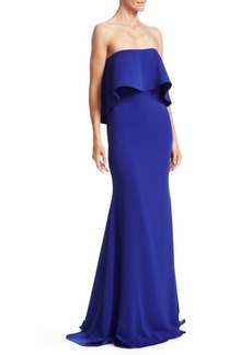 Badgley Mischka Popover Strapless Gown
