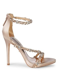 Badgley Mischka Quest Crystal Embellished Sandals
