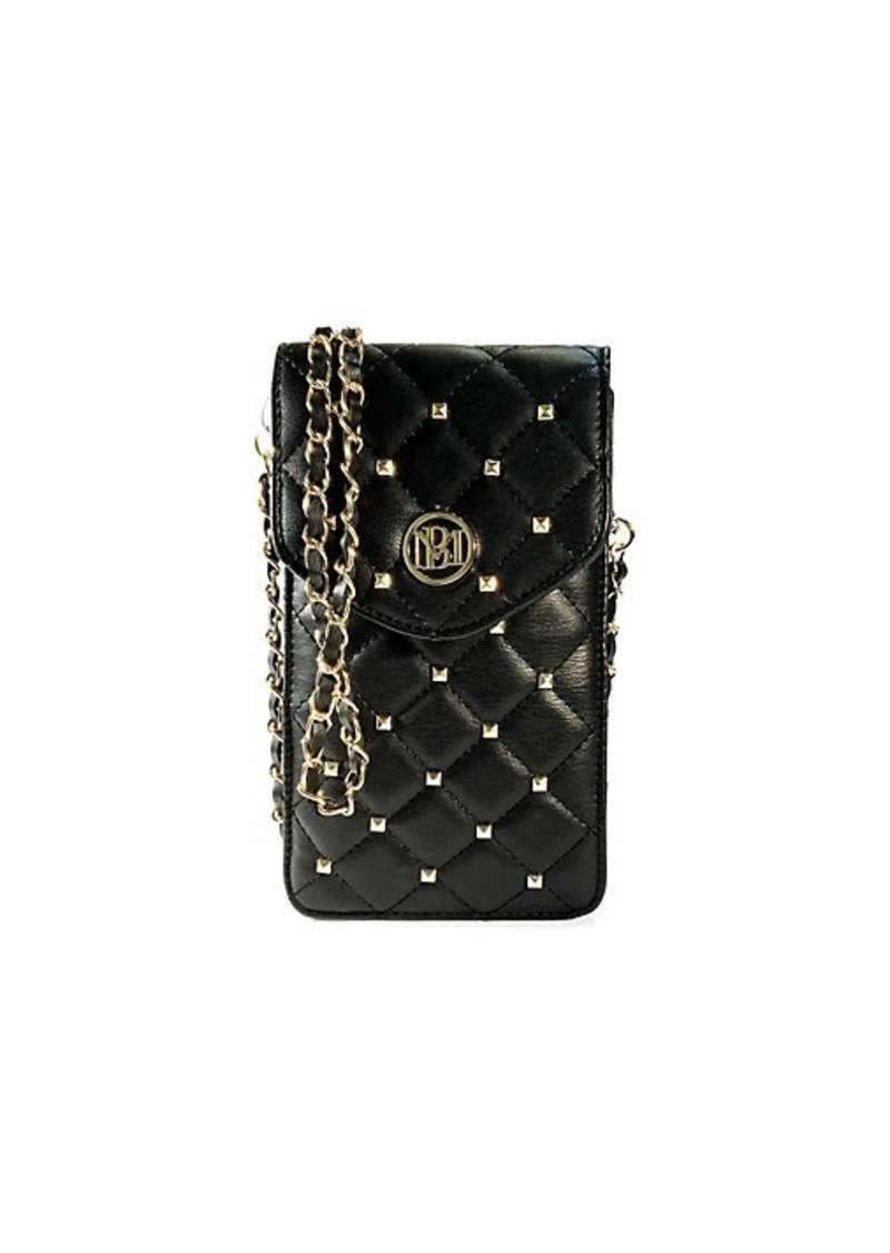 Badgley Mischka Quilted Faux Leather Crossbody Phone Case