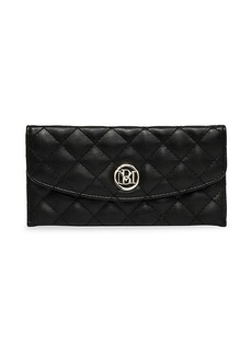 Badgley Mischka Quilted Faux Leather Long Wallet