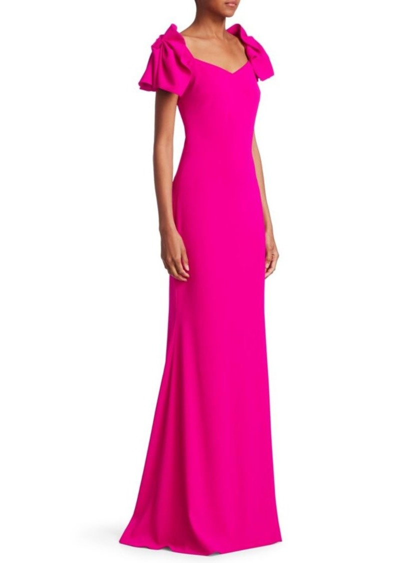 a40fd330942d Badgley Mischka Ruched-Sleeve Bodycon Gown