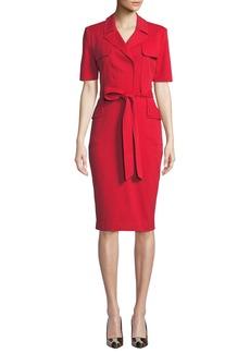 Badgley Mischka Safari Jacket Short-Sleeve Dress