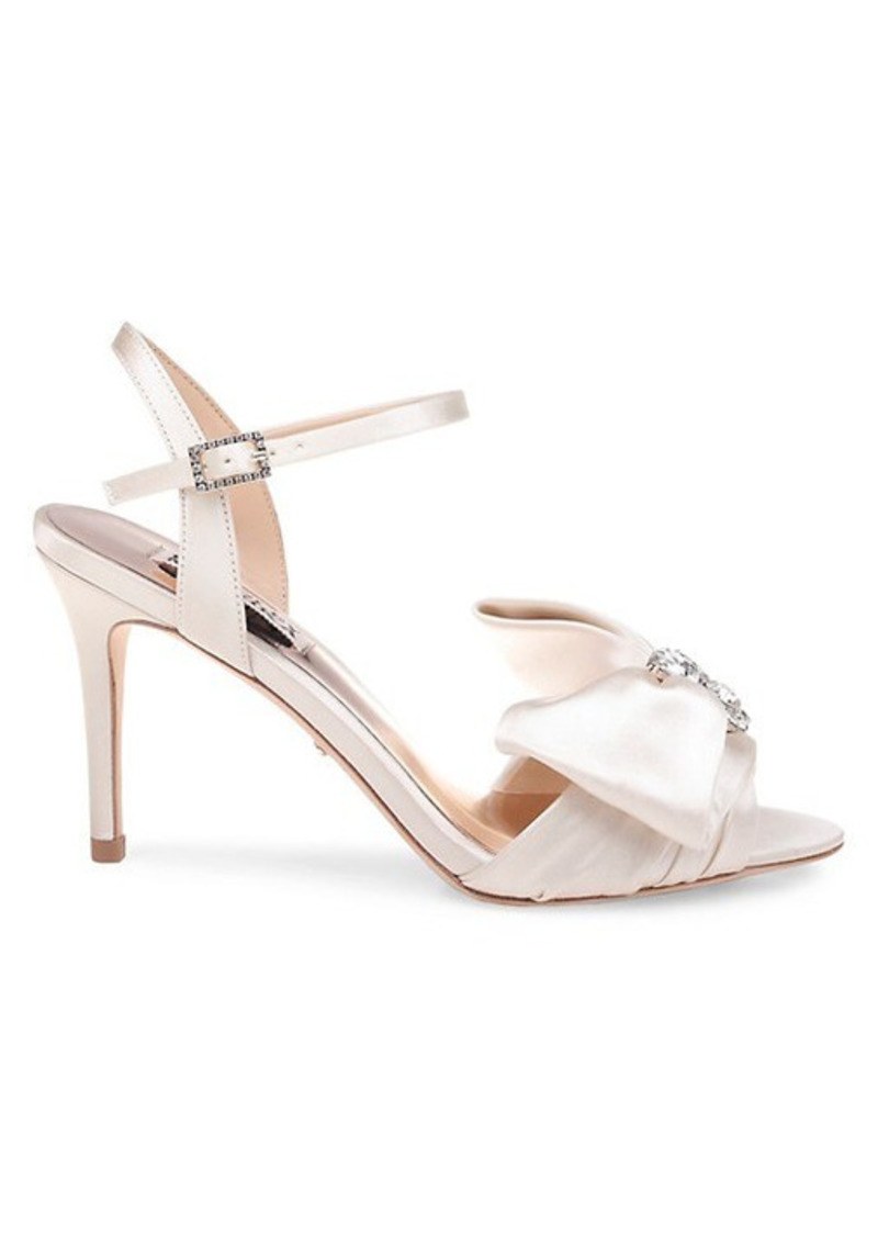 Badgley Mischka Samantha Embellished Satin Sandals