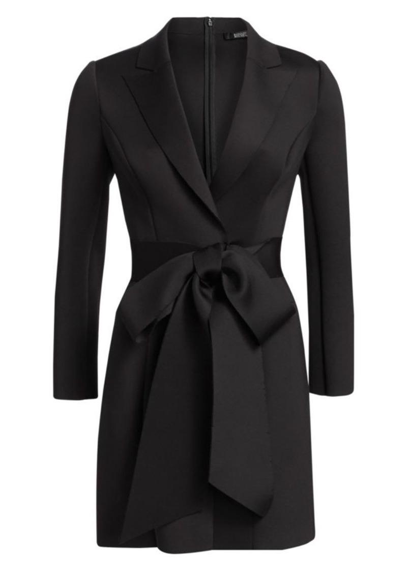 Badgley Mischka Scuba Wrap Suit Dress