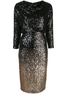 Badgley Mischka sequin embellished fitted dress