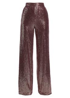 Badgley Mischka Sequin Wide-Leg Pants
