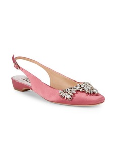 Badgley Mischka Shayla Bejeweled Slingbacks