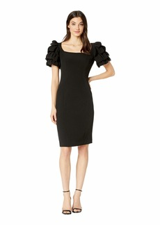 c2a6d73a SALE! Badgley Mischka Pebble Crepe Bell Sleeve Day to Evening Dress