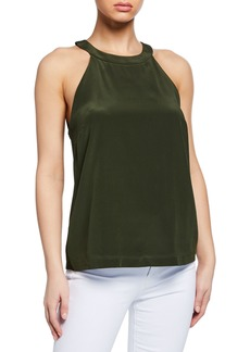Badgley Mischka Silk Halter Top