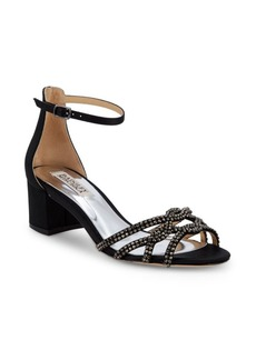 Badgley Mischka Sonya Embellished Block Heel Sandals