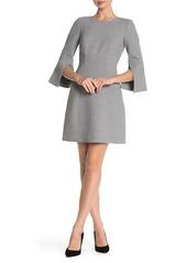 Badgley Mischka Split Bell Cuff Dress