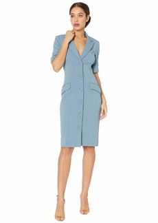 Badgley Mischka Stretch Faille Jacket Dress