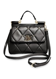 Badgley Mischka Studded & Quilted Crossbody Bag