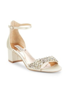 Badgley Mischka Tamara Leather Ankle-Strap Sandals
