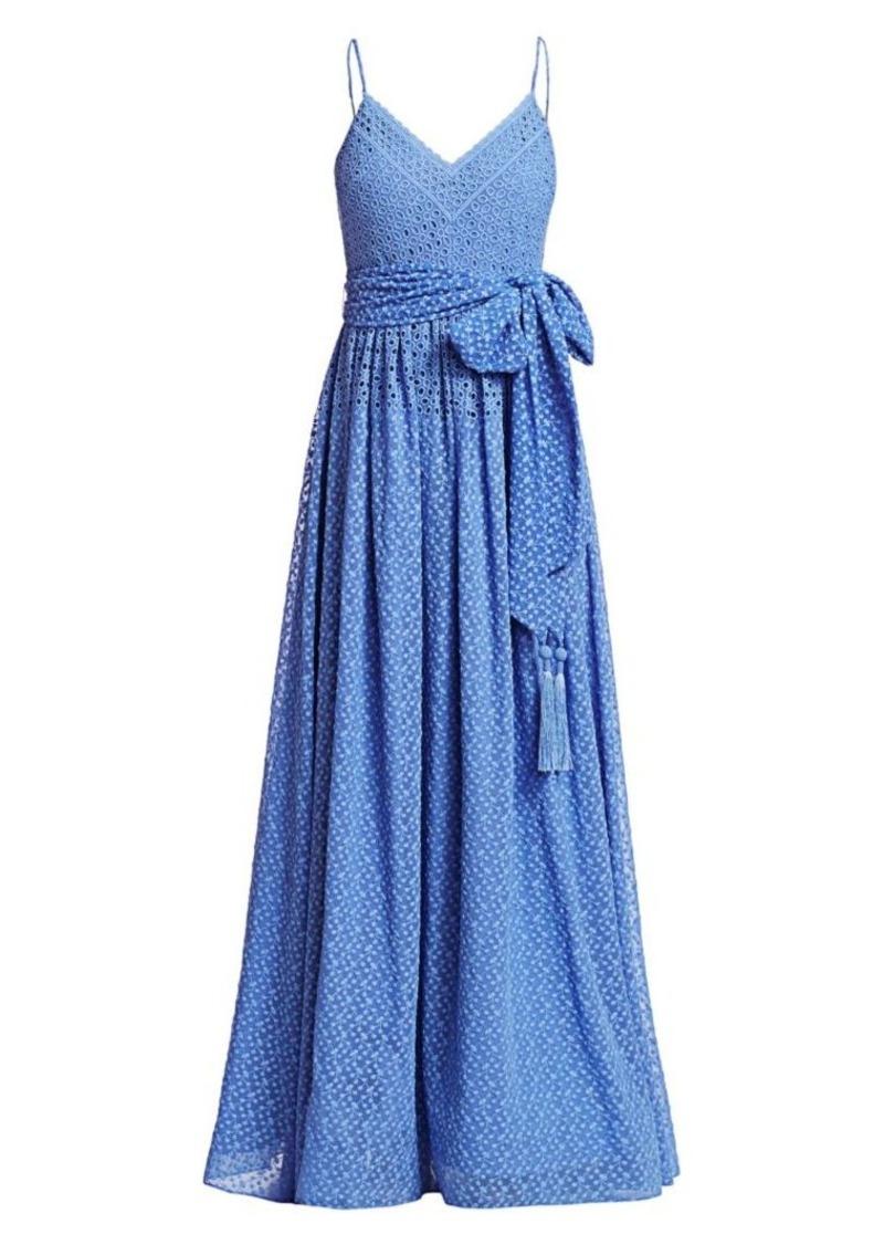 Badgley Mischka V-Neck Lace Gown