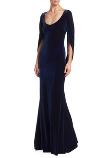 Badgley Mischka Velvet Mermaid Gown