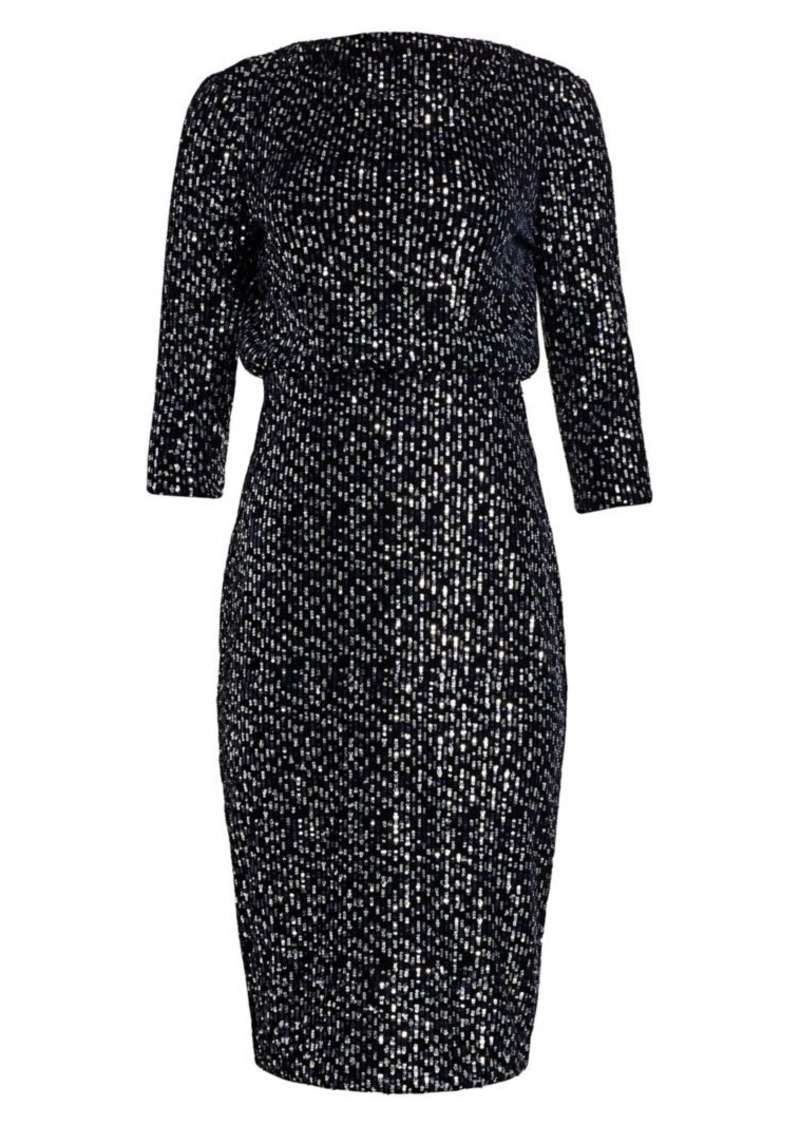 Badgley Mischka Velvet Sequin It Dress