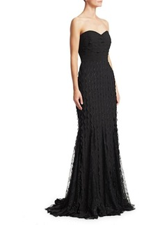 Badgley Mischka Wave Lace Gown