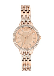 Badgley Mischka Women's Quartz Swarovski Crystal Bracelet Watch, 30mm