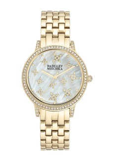 Badgley Mischka Women's Swarovski Crystal Accented Analog Bracelet Watch, 36mm