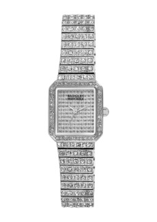Badgley Mischka Women's Swarovski Crystal Accented Bracelet Watch, 20mm