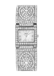 Badgley Mischka Women's Swarovski Crystal Bracelet Watch, 25mm x 27mm