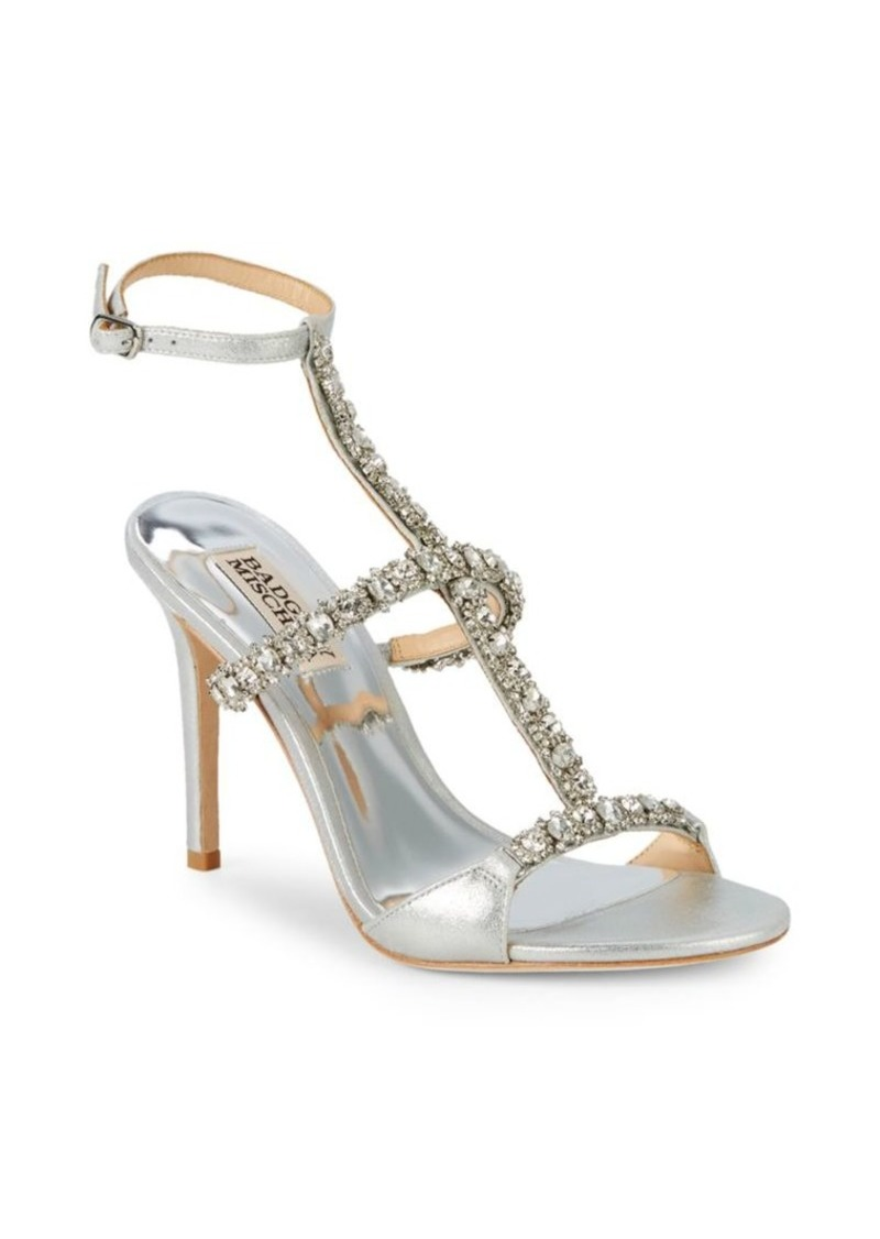 Badgley Mischka Yuliana Crystal Embellished Sandals
