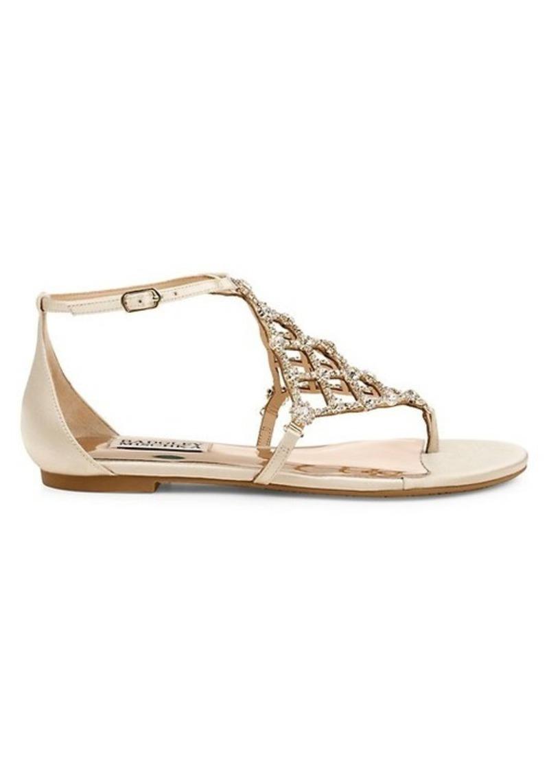 Badgley Mischka Zoanne Embellished Flat Sandals