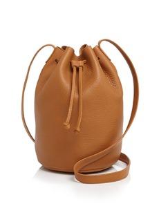 Baggu Drawstring Leather Bucket Bag