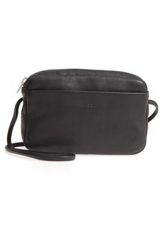 Baggu 'Mini' Pebbled Leather Crossbody