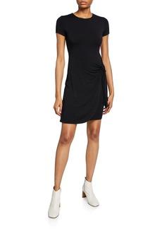 Bailey 44 Abby Short-Sleeve Side-Tie Short Dress