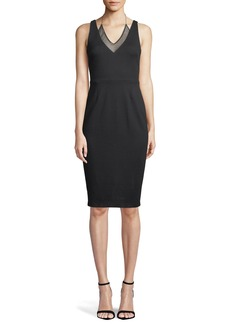 Bailey 44 All Nighter Sleeveless Mesh-Layer Dress