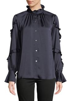Bailey 44 Ancestral Peasant Ruffle Blouse