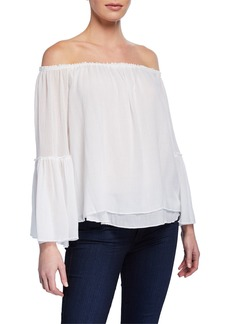 Bailey 44 Bahama Off-the-Shoulder Crinkle Top