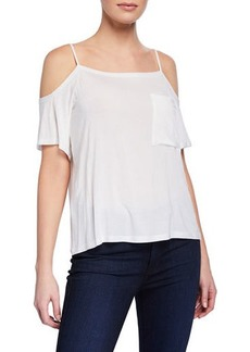 Bailey 44 Bail Out Cold-Shoulder Short-Sleeve Top