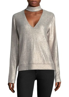 Bailey 44 A-List Metallic Choker Sweater