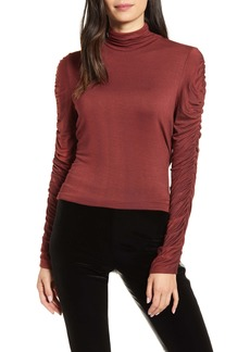 Bailey 44 Allegra Ruched Turtleneck Top