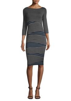 Bailey 44 Arcade Asymmetrical Striped Dress