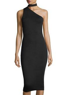 Bailey 44 Asymmetric Choker-Neck Dress