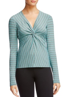 Bailey 44 Ava Striped Knot-Front Top
