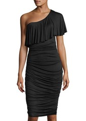 Bailey 44 Barbados One-Shoulder Ruched Midi Dress