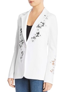 Bailey 44 Birthday Cake Lace-Inset Blazer