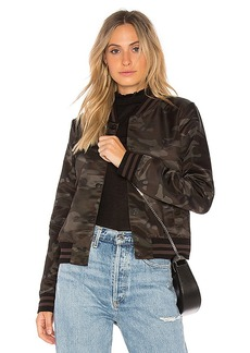 Bailey 44 Camo Jungle Bomber Jacket in Black. - size S (also in XS,M)