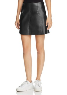Bailey 44 Chew The Scenery Metallic Faux Leather Skirt