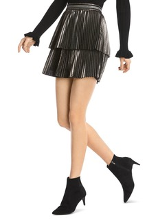 Bailey 44 Colby Metallic Pleated Skirt