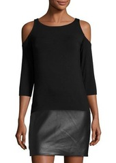Bailey 44 Cold-Shoulder Jersey Dress